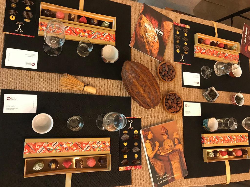 Degustación de chocolates con sabores japoneses